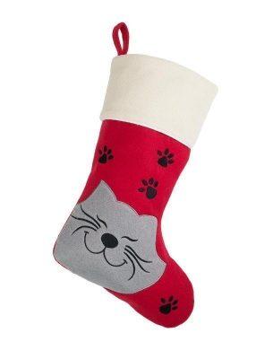 Pet Cat Christmas Stocking