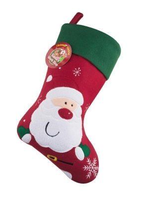 Deluxe Plush Santa Christmas Stocking