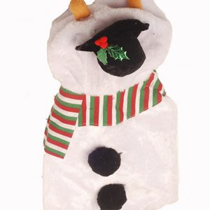 Plush Snowman Pet Costume