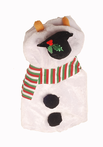 Plush Snowman Pet Costume